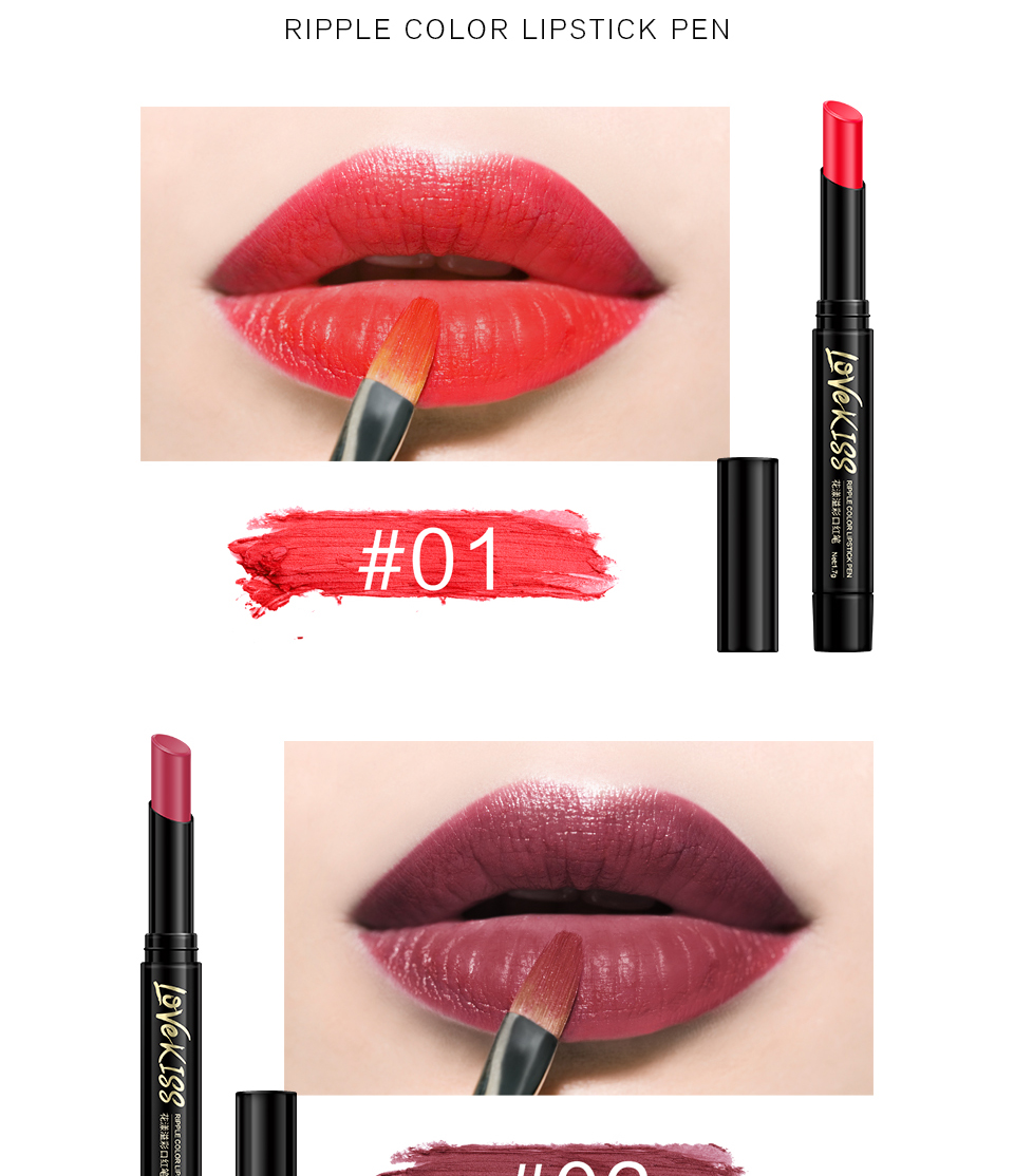 Nude Sexy Lipstick red Lipgloss Long lasting Pigment Matte Lipstick Women Fashion Makeup Cosmetic Valentine's GIFT private label 4