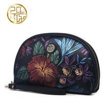 Pmsix 2016 New Luxury Brand Women Clutch Bag Genuine Leather Embossing Black Clutch Purse Vintage Women Evening Bags P510005