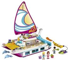 Friends Sunshine Catamaran Building Blocks Bricks Classic For Girl Kids Model Toys Marvel Compatible Legoe