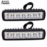 2Pcs 18W 12V LED Work Light Bar Spotlight Flood Fog Lamp Driving Offroad LED DRL Work