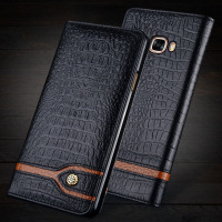 Wobiloo For Xiaomi Redmi 4 5 0 Case Flip Two Color Series Genuine Leather Phone Case