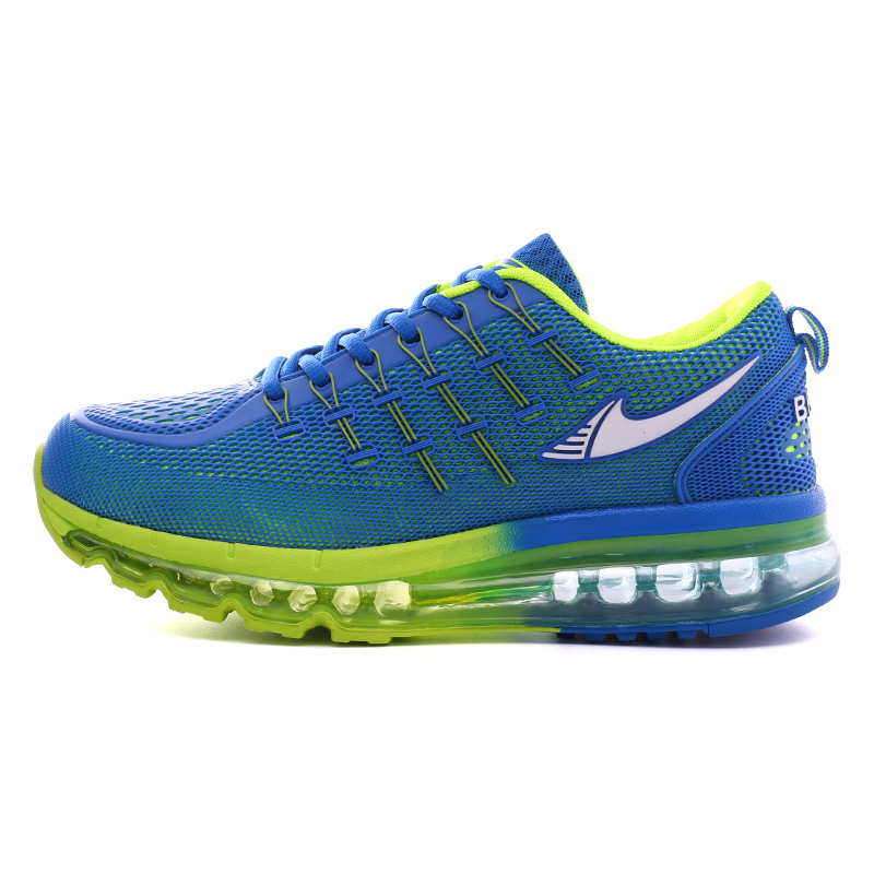 ФОТО 2016 Summer Free Run Mesh Breathable Light Air Cushion Flying Increase Tourism Running Shoes Men Sneakers Men
