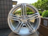 18 PEELER RS6 STYLE WHEELS RIMS HYPER SILVER FITS A3 A4 VW 5X112 GTI JETTA SE W620