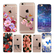 hot deal buy case for iphone 6 printed phone case for iphone 6 6s 5 s se 7 8 plus case soft silicon coque for iphone 7 plus back cover fundas
