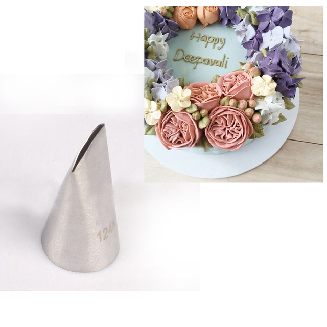 124k Austin Rose Cake Decorating Tip Sugar Craft Stainless Steel Icing Piping Pastry Nozzles For