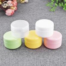 Storage Refillable Bottles Jars Travel Face Cream Lotion Cosmetic Container Plastic Empty Makeup Jar Pot 5 Colors 20g 50g 100g