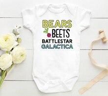 DERMSPE Summer Newborn Baby Boys Girls Cotton Short Sleeve Colorful Letter Print Cute Cartoon Romper Baby Clothes White все цены