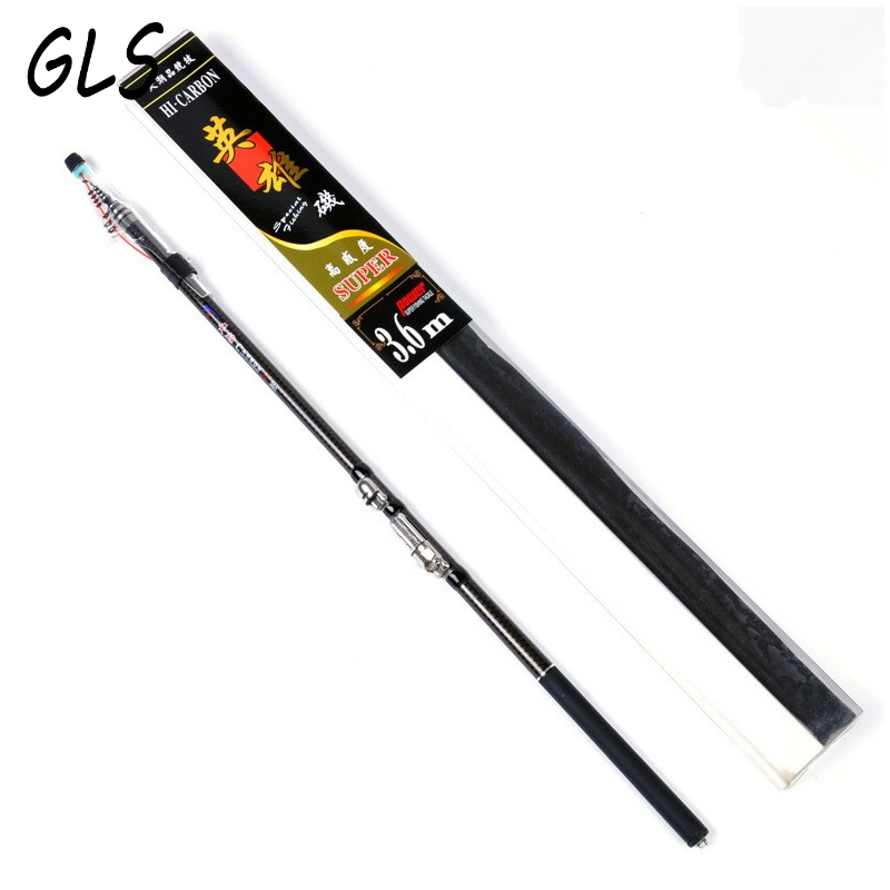 Gift Package Hard Telescopic Fishing Rod 2.7m 3.6M 4.5M 5.4M 3.0M 6.3M Spinning Fishing Rod Telescopic Rock Fishing Rod