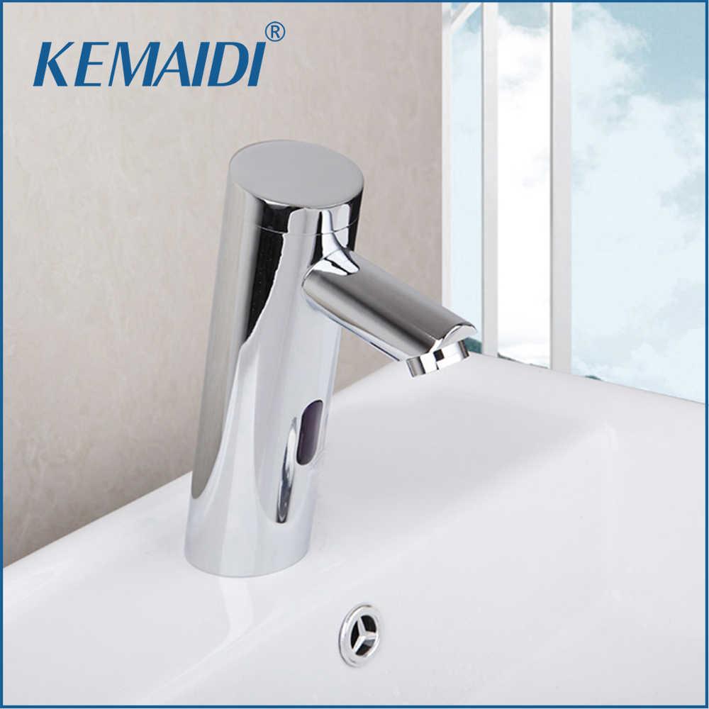 Kemaidi Basin Faucet Torneira Otomatis Tangan Sentuh Gratis Kran Sensor Kamar Mandi Wastafel Kuningan Chrome Mixer & Keran Air Mixer
