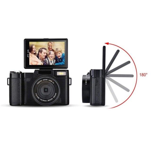 Профессиональная 3,0 дюймов ЖК-дисплей 1080P видео цифровая камера 4X Zoom 24MP поворотный экран селфи цифровая камера fotografica