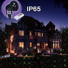 five star  New Outdoor/ Indoor Remote Green Pattern Laser Projector Landscape Garden Yard Lawn Tenement Lighting Show Light Xmas