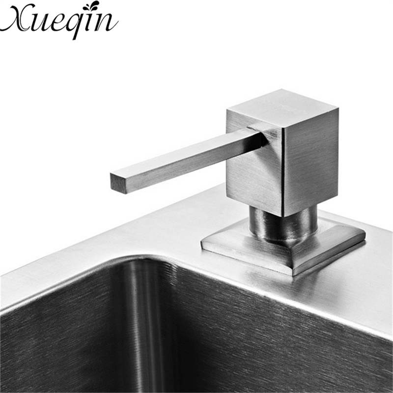 300ML Stainless Steel Liquid Soap Dispenser Detergent Lotion Shampoo Bottle Container Sink Pump For Kitchen Bathroom