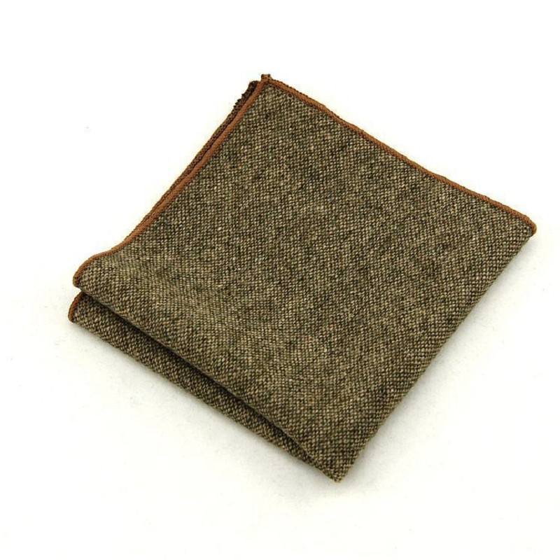 Luxury Wool Handkerchief For Men Pocket Square Towel Hankie Suit Accessories Men's Kerchief Quality Personalized Handkerchiefs