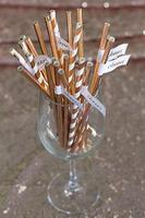 1000pcs Rose Gold Bronzing Paper Straws For Kids Baby Shower Birthday Party Wedding Decorative Event Supplies Drinking Straws