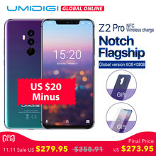 "UMIDIGI Z2 Pro 6.2""Full screen smartphone Android 8.1 6GB+128GB Helio P60 16MP Quad Lens 4G LTE NFC Wireless charge Mobile phone(China)"