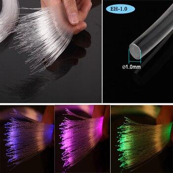 Fabrieksinstellingen Spool Sale 1.0mm Pmma Plastic Einde Gloed Glasvezel Voor Ster Plafond Led-verlichting