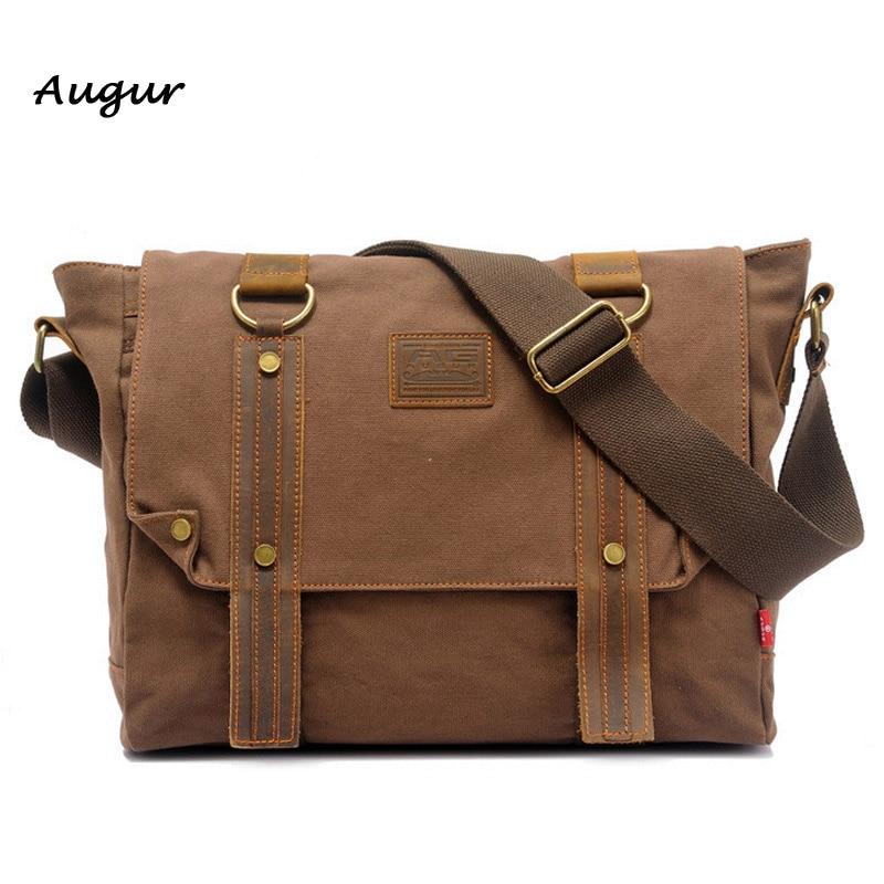 ФОТО Vintage Canvas Mens Bags School Satchel for Men Messenger Bag Casual Pattern Brand Laptop Briefcase Versatile Business Bag 8168#