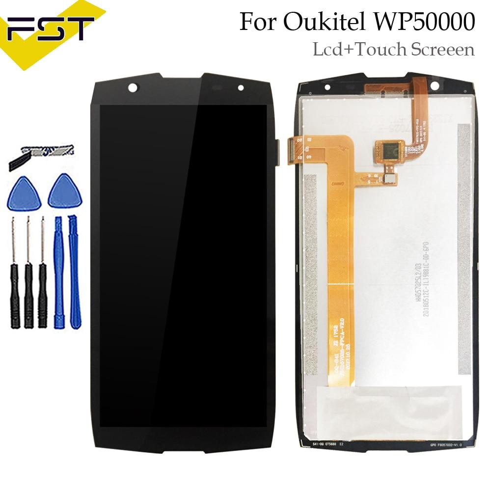 720*1440 Pour Oukitel WP5000 Écran LCD Display + Écran Tactile Digitizer Assemblée Pièces De Rechange + Outils + Adhésif LCD Panneau de Verre