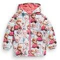 WENDYWU Miúdos Criança Blusão Jaqueta Casaco Com Capuz Traje Anna Elsa Rainha da Neve para Crianças Outerwear blazer Roupas minnie