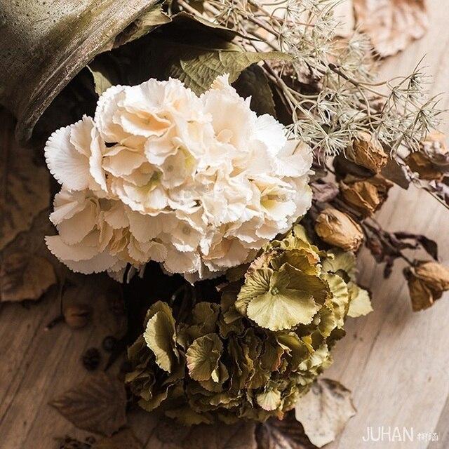 Paisaje De Otono Oceano Hortensia Arreglo Floral De Flores