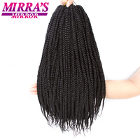 Mirra'S Mirror 1218 Box Braids Hair Crochet Hair Extensions Synthetic Braiding Hair Silver Gray BUG Color 24Strands/Pack