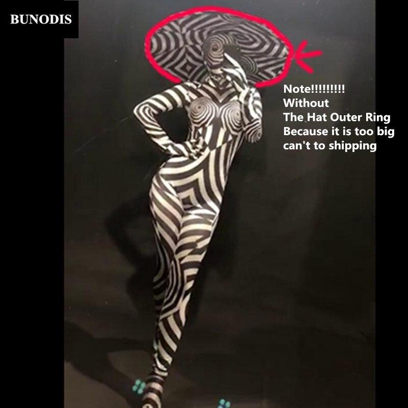 Bodysans Bague Chapeau Bu263 Femmes Customes 3d Motif ExtérieureDiscothèque Célébrer Usure Des Zèbre Danseur En Scène Parti Imprimé Spectacle txhQrdsC