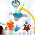 newborn baby music Hanging musical mobile bed bell toys toy with Projection remote control music rattles toys