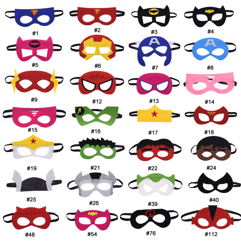 mask Hulk Batman Joker Superhero Thor Cosplay Flash Superman Avengers Star Wars Christmas kids Party Masquerade Costumes Masks