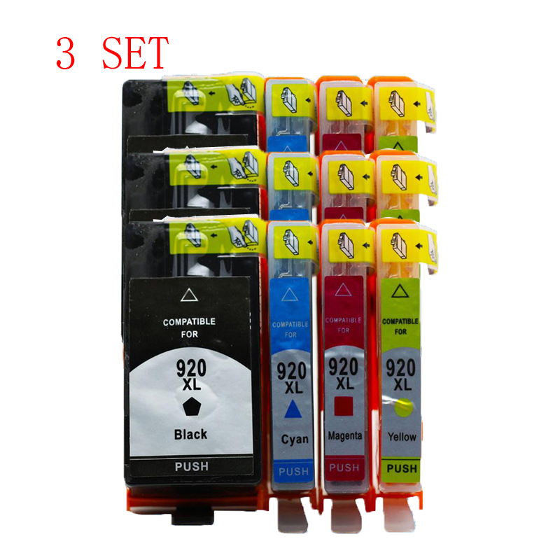 3 Set  For HP920 XL 920 920XL compatible ink cartridge For HP Officejet 6000 /6500/6500 /6500A /7000/7500/7500A with chip new membrane keyboard 6av6 542 0bb15 2ax0 for slmatic hmi op170b new keypad membrane switch simatic op170b hmi keypad in stock
