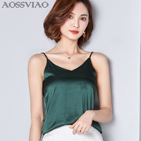 New Summer Autumn Style Imitation Silk Women Blouse Shirt Sexy White Red Gray Black Tops Party