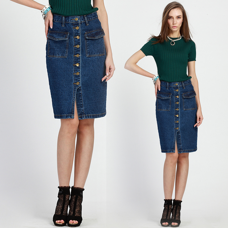 Compare Prices on Women Long Denim Skirt- Online Shopping/Buy Low ...