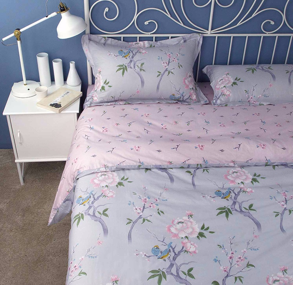 Ã� Ͼ�american Rustic Blue Purple ̛� ̜� Floral Floral Bed