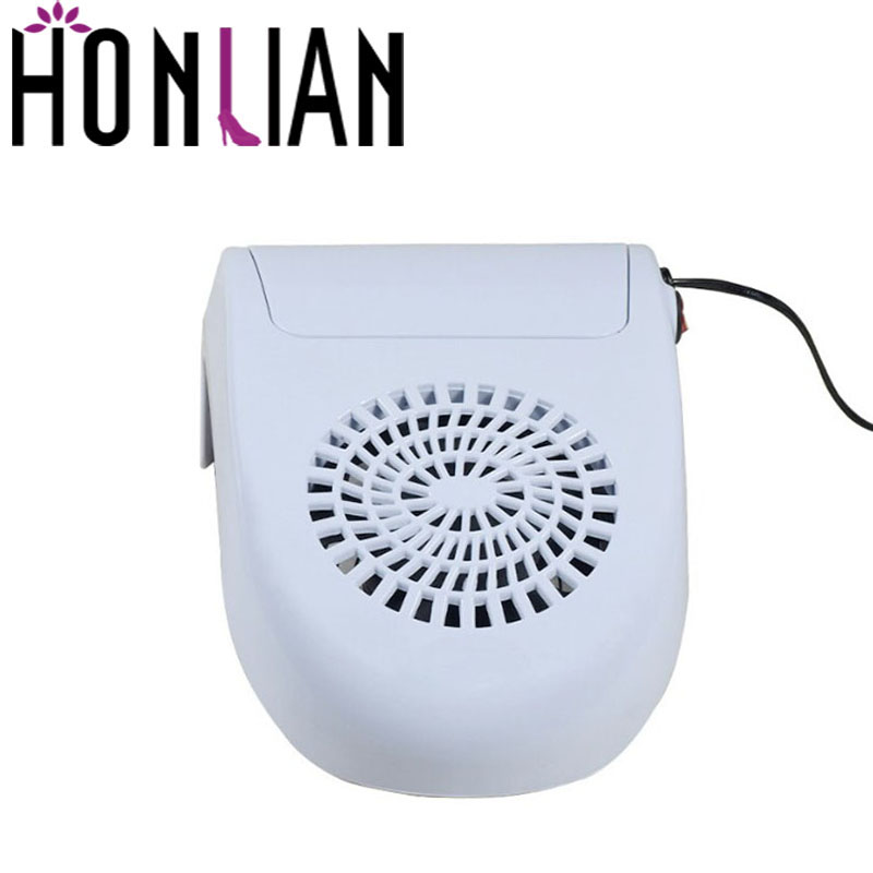 45W High Power Nail Dust Collector Salon Nail Art Tool Suction Machine Vacuum Cleaner Strong Fan Hand-rest UV Gel Nail Dryer Tip