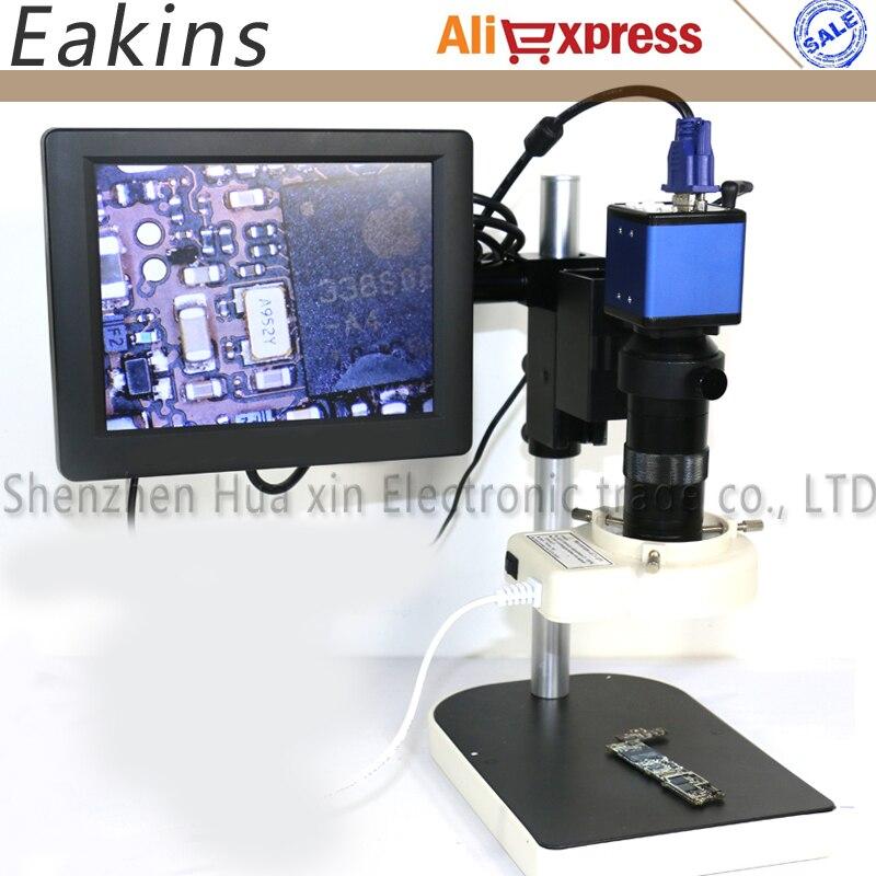 2MP VGA видео цифровой микроскоп камера с 200X Объектив 56 светодио дный светодиодный свет для электронных PCB BGA iPhone Компьютер Ремонт Инструменты
