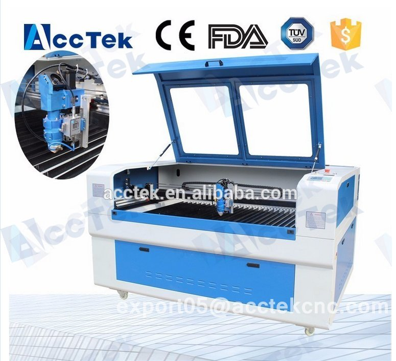 AKJ1390H Lathe Cnc Router USB Port Sheet Metal Laser Cutting Machine Price Wholesale 1300*900