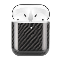 Carbon Fiber Hardshell Case Protection Box Compatible with Apple Airpods 2 SD998