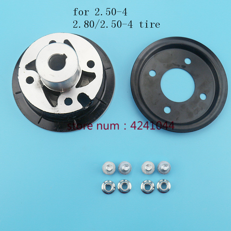 Motorcycle parts <font><b>2.80/2.50</b></font>-<font><b>4</b></font> 2.50-<font><b>4</b></font>''tire wheel hub <font><b>4</b></font> inch electric Scooter aluminum alloy rims 17mm or 19mm Inner hole image