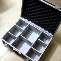 Yüksek kaliteli araç alüminyum alet kutusu dosya depolama Sert taşıma kutusu aracı El Tabancası Kilitleme Tabanca 46*35*15 CM