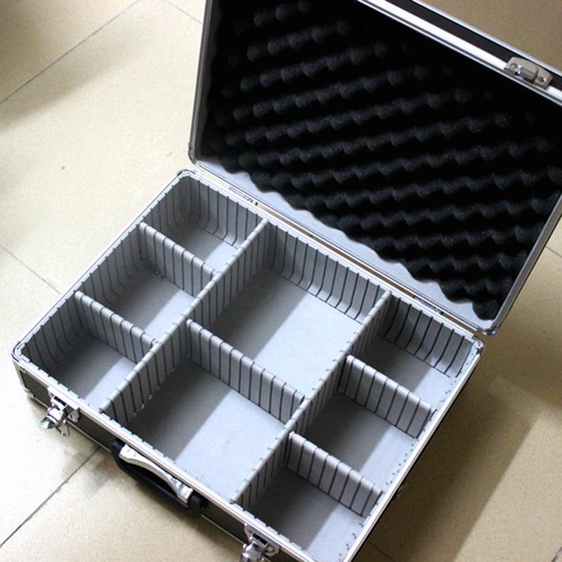 aukštos kokybės įrankių dėžės aliuminio įrankių dėklų laikmenos kietas nešiojamųjų dėžių įrankis, skirtas rankinėms pistoletams užrakinti 46 * 35 * 15 CM