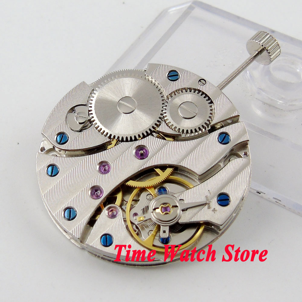 PARNIS watch movement 17 Jewels mechanical Asia 6497 Hand Winding movement fit for men s watch