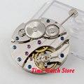 PARNIS orologio movimento 17 Gioielli meccanico Asia 6497 A Mano movimento a Carica Automatica misura per la vigilanza degli uomini orologio da polso da uomo m12