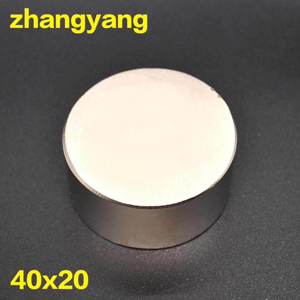 Il trasporto libero 1 PZ hot magnete 40x20mm N35 Rotondi forti magneti potente magnete Al Neodimio 40x20mm metallo Magnetico 40*20