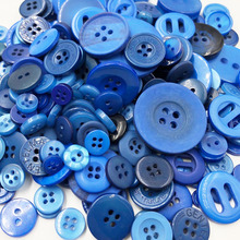 Синий 50 г сделай сам ручная вязальная Кукла Одежда пуговицы смолы акции смешанные шитье скрапбук PT235