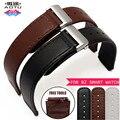 AOTU 15 мм Натуральная Кожа Ремешок Из Нержавеющей Стали Раскладывающейся застежкой Бизнес Спорт Браслет для Huawei B2 Smart Watch Band + Бесплатные Инструменты