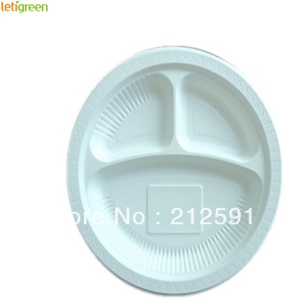 Sustainable Cornstarch Disposable Buffet Plates Quality Plastic Candy Dishes Biodegradable Sushi Plate 9 inch Three Compartment-in Dishes \u0026 Plates from Home ...  sc 1 st  AliExpress.com & Sustainable Cornstarch Disposable Buffet Plates Quality Plastic ...
