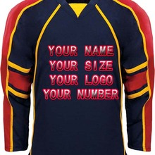 Custom ICE Hockey Jerseys Replica Home Away Vintage Jersey Black White Mens  Tackle Twill USA 9b53dd4b5