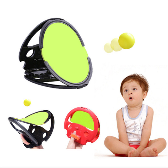 1 piece shoot+ 2pcs ball Grasping The Ball Fashion Outdoor Indoor Fitness Sports Quality Racket Toy Beach Ball High Sky Flying