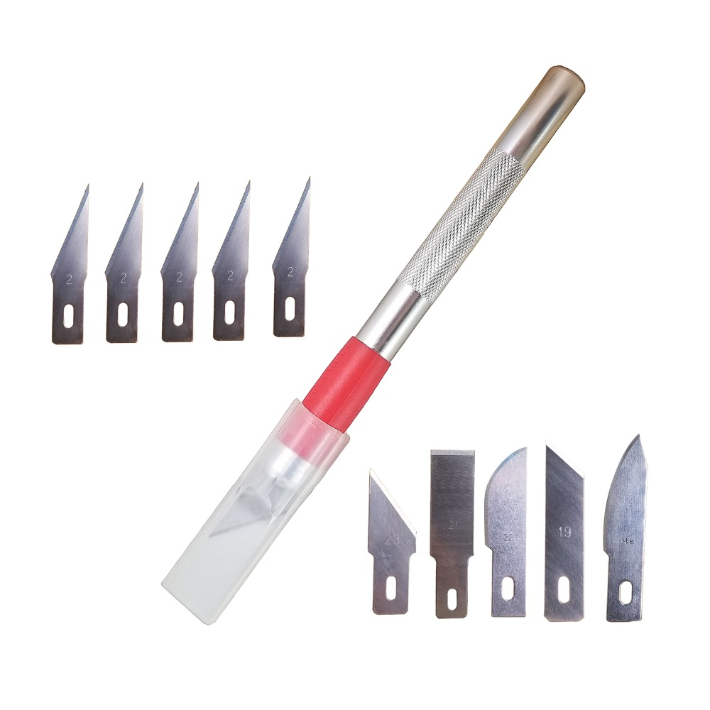 craft knives 11 pieces blades diy multi purpose carving tool aluminum