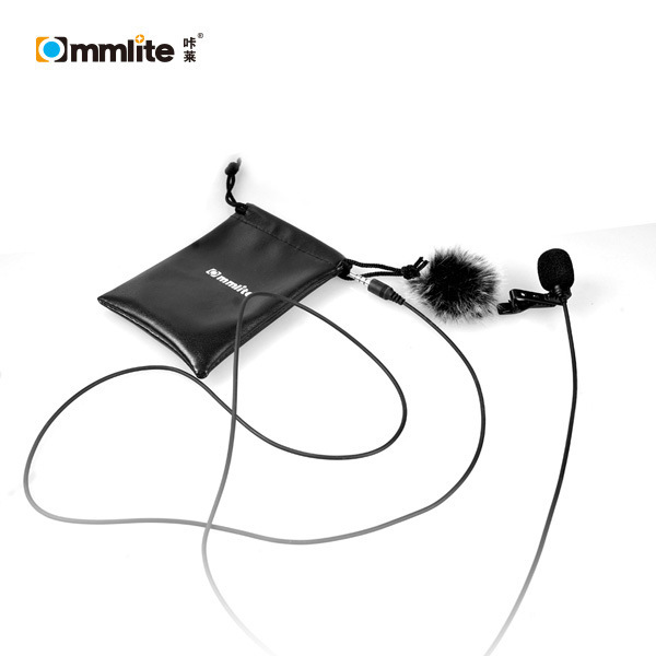 F18502 Commlite CVM-V01SP CoMica Lavalier Mobile Phone Microphone Clip-on Omni-directional Condenser Mic for Smartphone