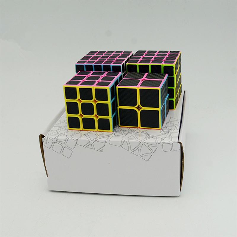 High Quality Carbon Fiber Sticker Magic Cubes Series Combination Children Educational Puzzle Toys Primary Learning Cube Kids Gif qiyi megaminx magic cube stickerless speed professional 12 sides puzzle cubo magico educational toys for children megamind